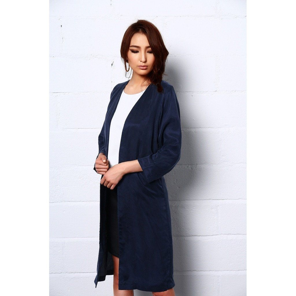 Night dance long coat in blue products