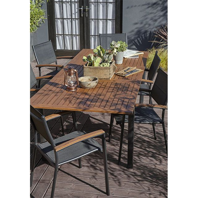 table de jardin toscana 180 x 99 cm castorama maison. Black Bedroom Furniture Sets. Home Design Ideas