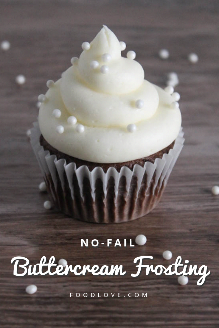 No-Fail Buttercream Frosting: Thick and fluffy frosting that works every time! Tips, tricks, and secret ingredients to make the perfect American buttercream for piping or spreading.