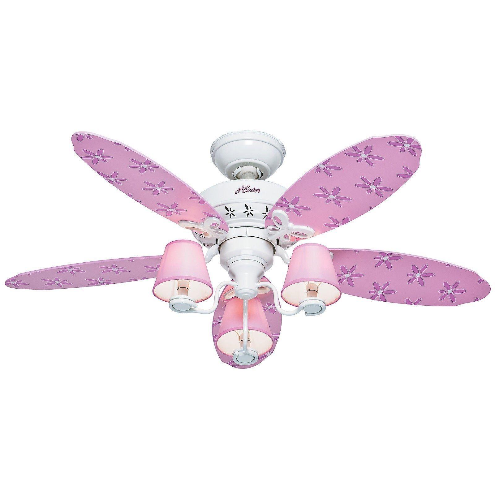 Pink Butterfly Ceiling Fan o