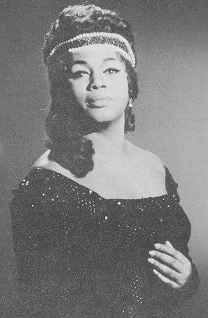"""Leontyne Price as Elvira in """"Ernani"""" Year and photographer unknown"""