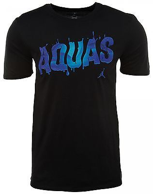 8efb7ec46ac311 Nike Air Jordan Retro 8 Aqua Tee Mens 706844-010 Black Concord T-Shirt Size  M
