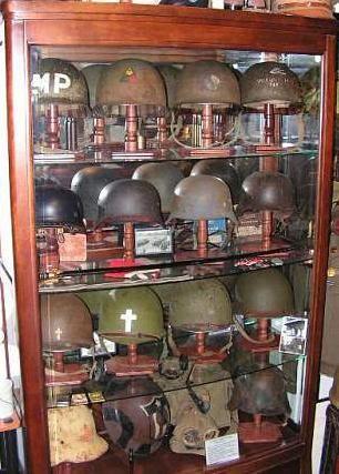 Vintage Military Helmet Display Military Decor Military Furniture Helmet Display