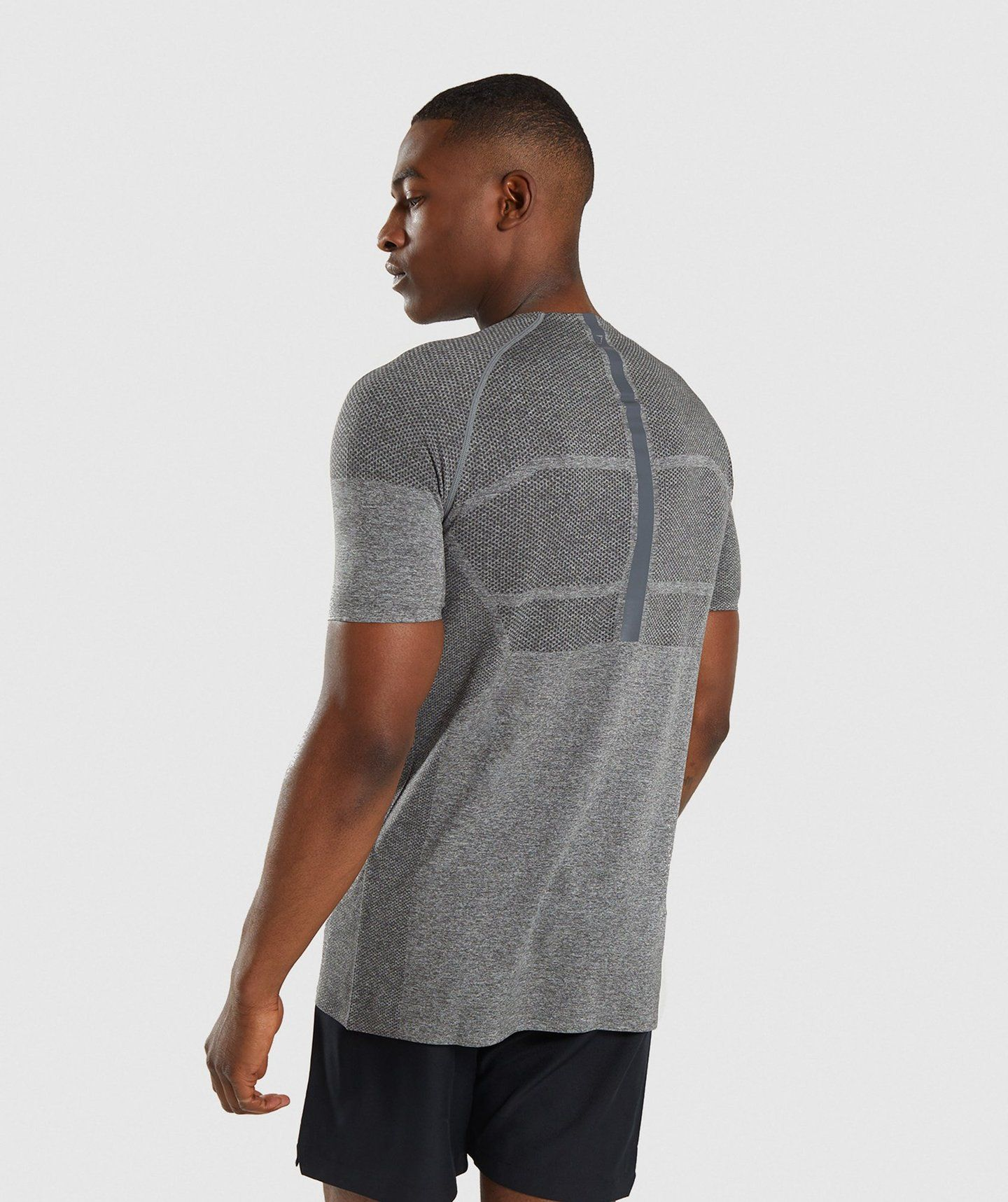 2463e5dd6ceb Gymshark Shadow X Seamless T-Shirt - Charcoal Marl in 2019 | Mens ...