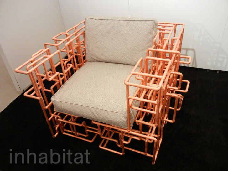 Wonderful BRC Designsu0027 American Pipe Dream Chair And Table Are Made From A Maze Of  Copper
