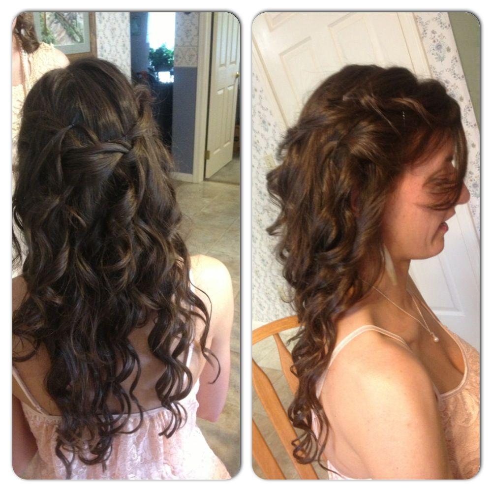 Brides maids hair hair pinterest brides maid hair and