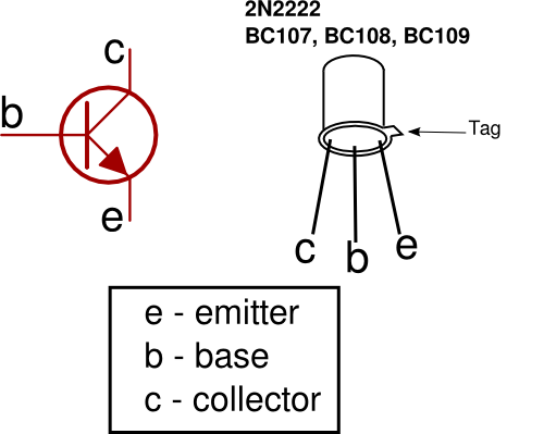 transistorsymbol and pinout  electrical  electronics