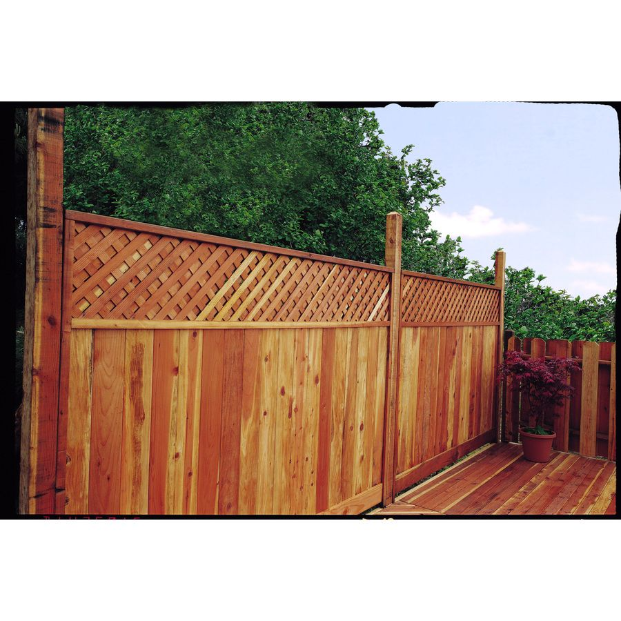 Shop Top Choice Redwood Lattice Top Wood Fence Panel Common 6 Ft