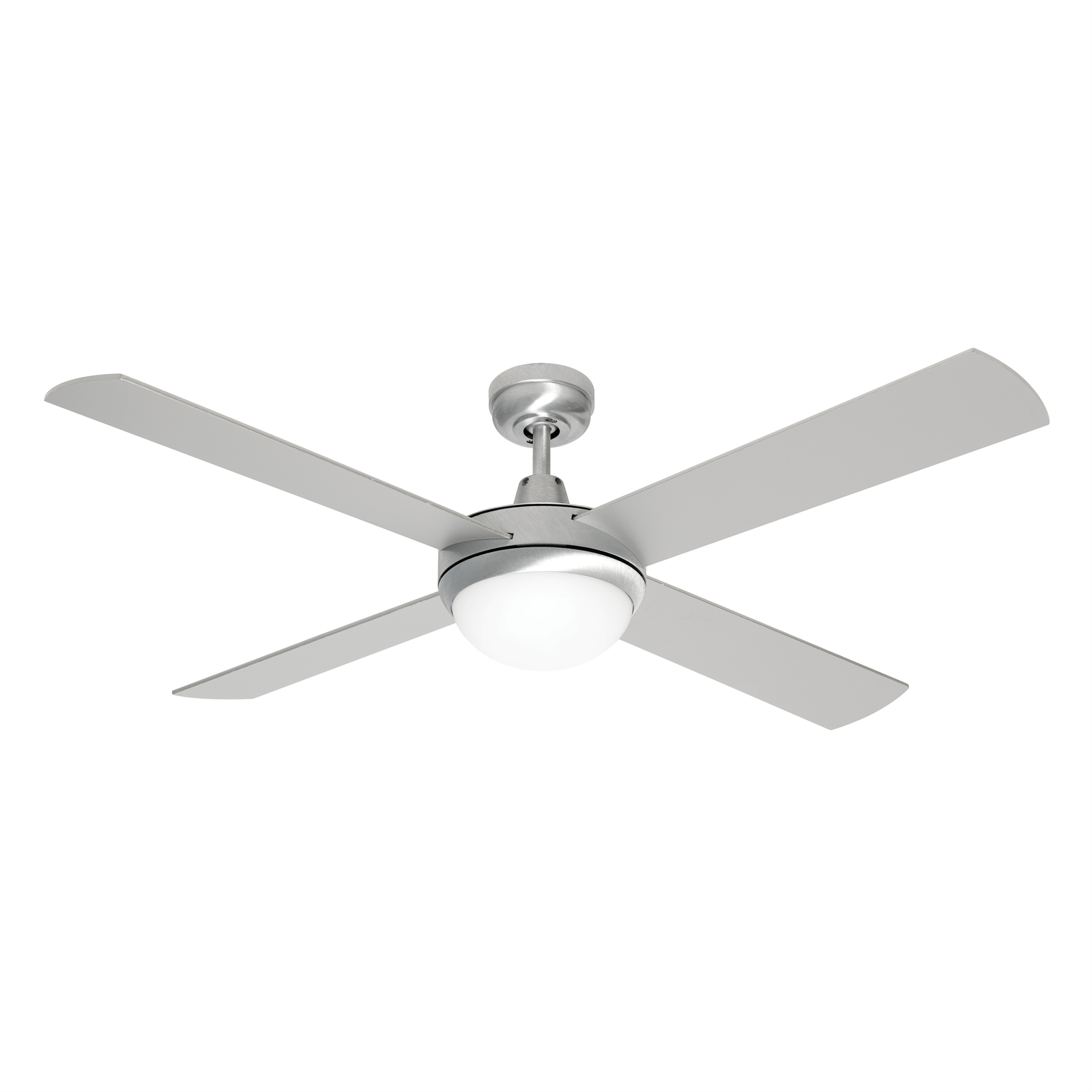 Find Mercator 130cm Brushed Steel 4 Blade Grange Ceiling Fan With Light At Bunnings Warehouse