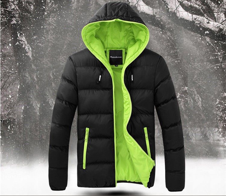 Chamarra Deportiva Para Hombre Color Negra Verde Mens Winter Fashion Womens Winter Puffer Coats Mens Outfits