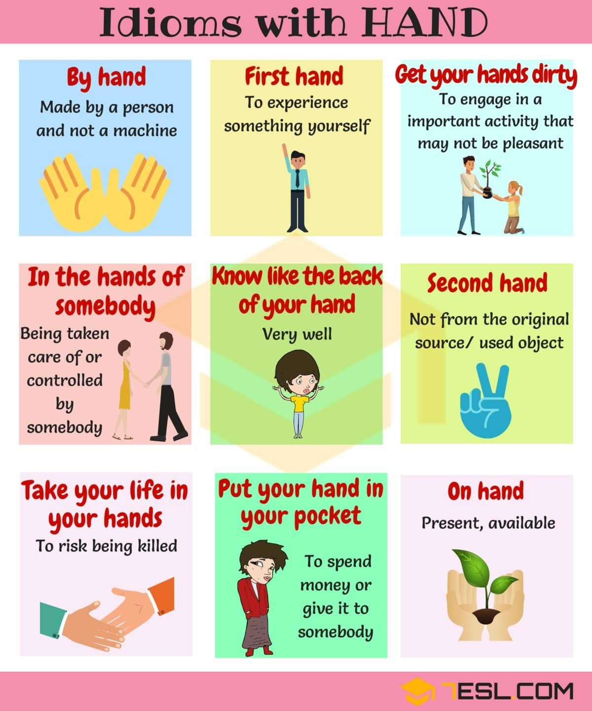 Hand Idioms 25 Useful Idioms Amp Sayings About Hands