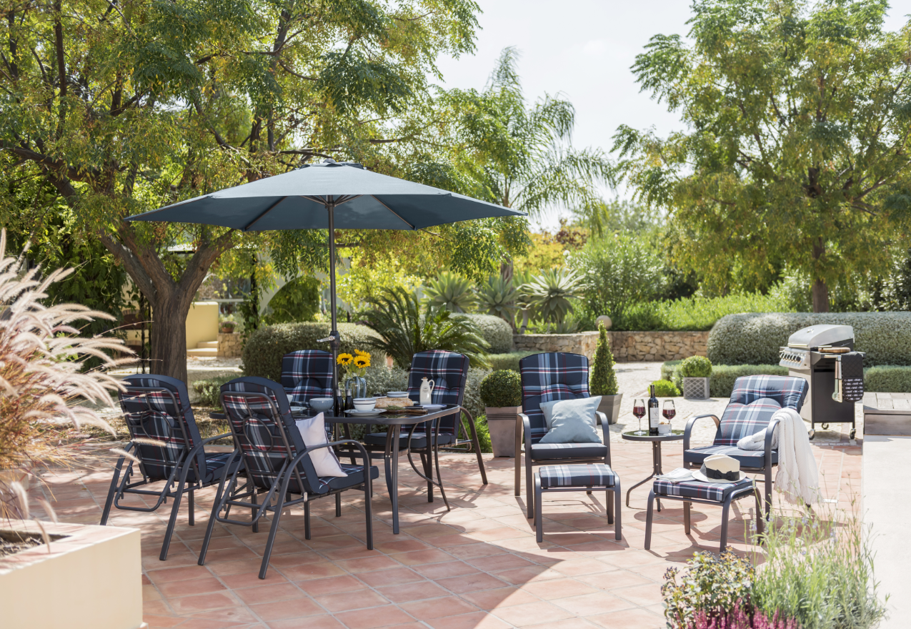 Wide range of Garden and Conservatory Furniture Sets available to buy today  at Dunelm  the UK s largest homewares and soft furnishings store. Detroit 11 Piece Garden Furniture Set  Summer  Outdoor   Home