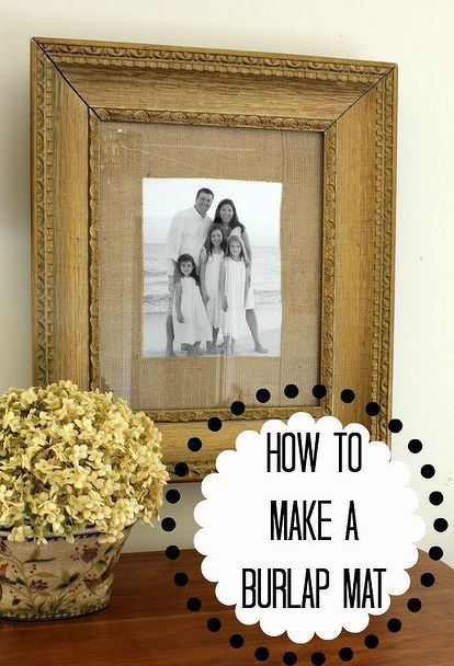 How to Make a Burlap Mat for a Picture | Step guide, Burlap and Craft