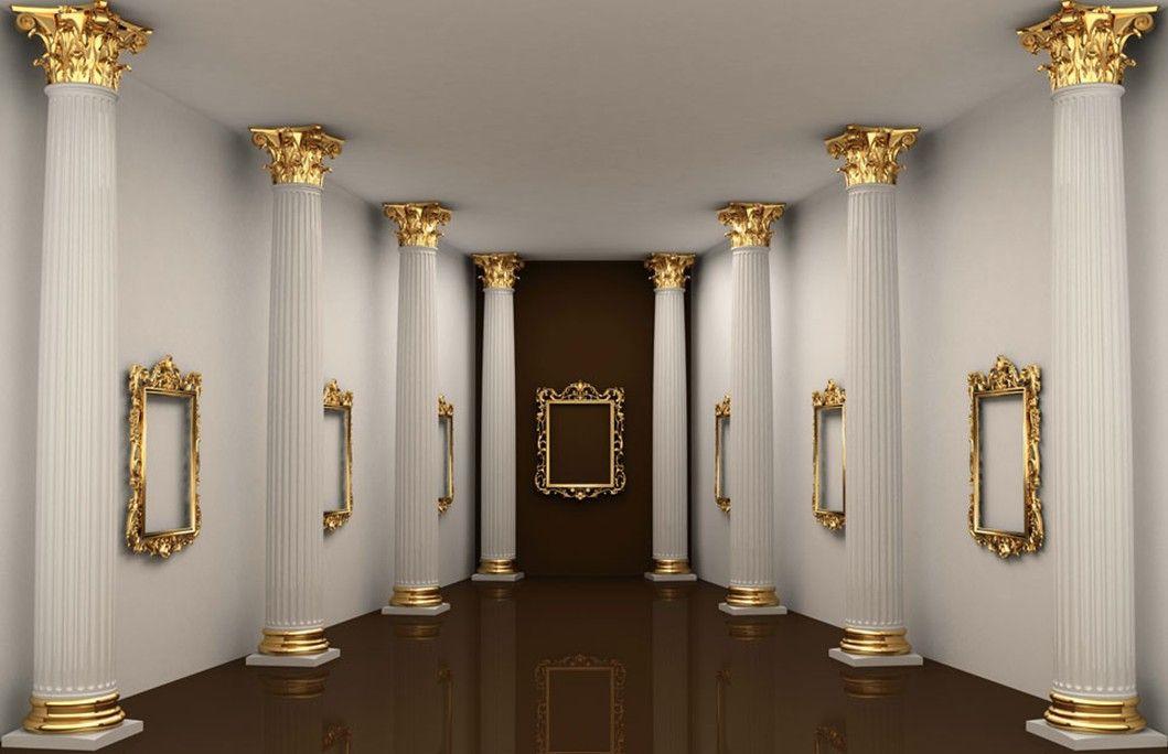 Columns In House roman pillars in white corridor | salon & spa pro | pinterest