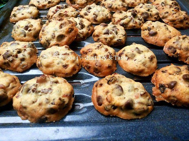 Kue Kering Kismis Dengan Choco Chips Cookies Dengan Rasa Nano Nano Kue Kering Resep Biskuit Kue Lezat