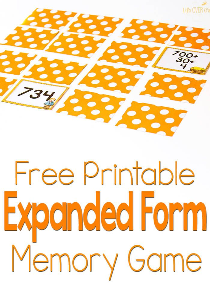 Free Scarecrow Expanded Form Memory Game For Fall Learning Math