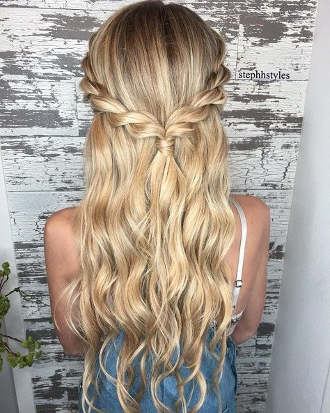 Braid Half Up Half Down Hairstyle Ideas Prom Hairstyles Half Up Half