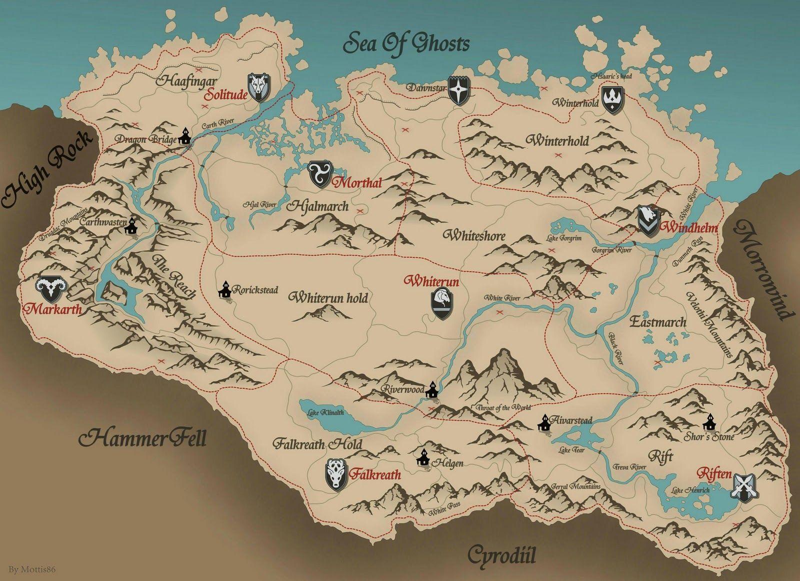 Skyrim! #skyrim #dawnguard #hearthfire | Skyrim | Skyrim map, Map