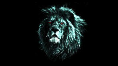 Glowing Lion Wallpaper Lion Wallpaper Lion Hd Wallpaper Colorful Lion