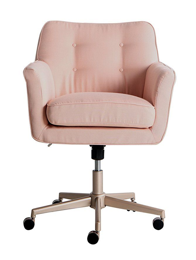 Amazon.com: Serta Style Ashland Home Office Chair, Twill Fabric, Blush Pink
