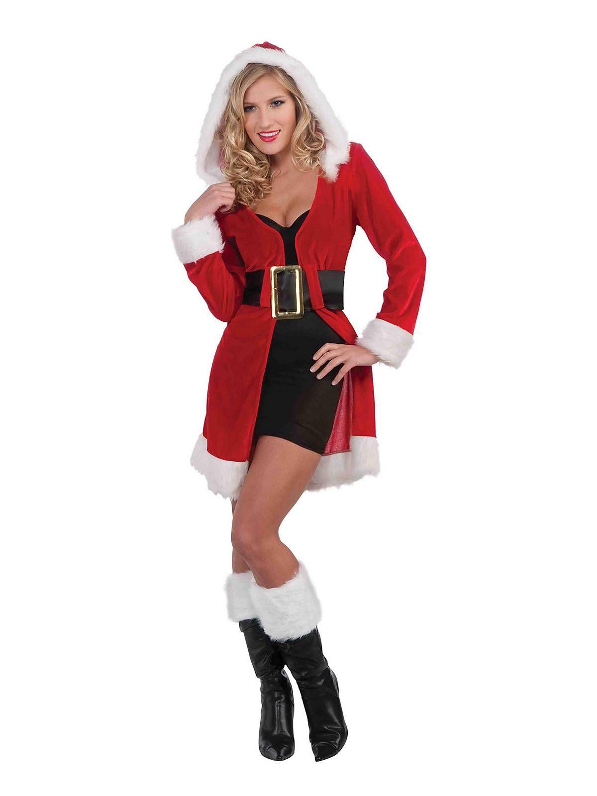 7d3626ea437 Womens Sexy Enchanted Miss Christmas Short Coat Costume | Winter ...