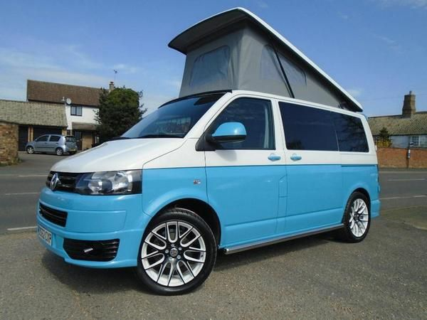 2012 VOLKSWAGEN TRANSPORTER T5 20 TDI 102PS BRAND NEW RETRO BLUE CAMPER VAN CONVERSION Diesel In