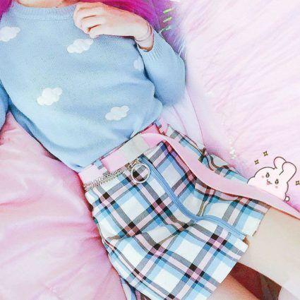 Kawaii Pastel Clouds Sweater - Special Edition - KawaiiTherapy