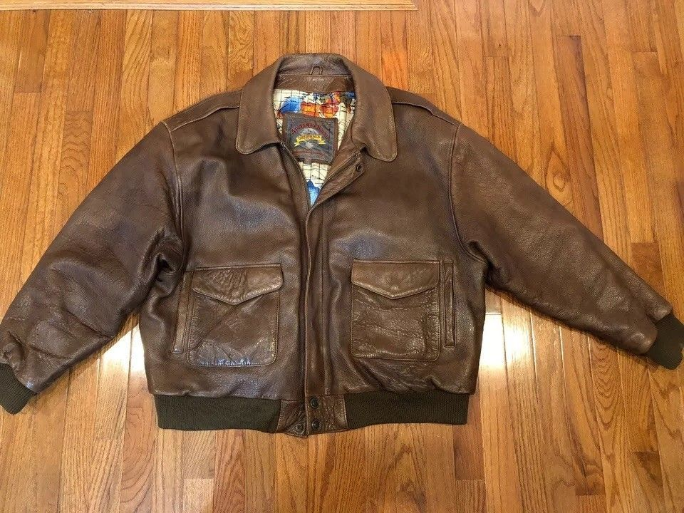 6cc3e0720 Men's Wilson's Adventure Bound Original 2X Brown Leather Bomber ...