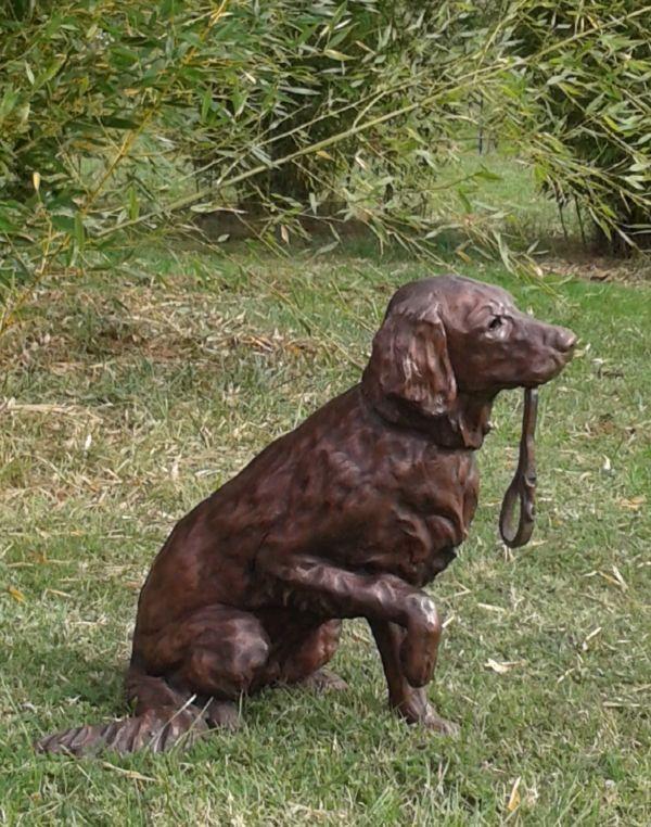 Copper resin sculpture by sculptor Christine Close