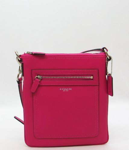 3f40e2224d discount designer handbags for sale. Coach Legacy Leather Swingpack Fuchsia Crossbody  Bag - http   www.besthandbagsdeals.