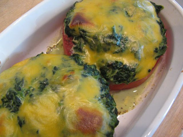 Rita's Recipes: Creamed Spinach Baked Stuffed Tomatoes