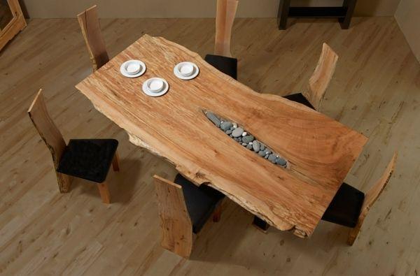 esszimmer feng shui stil holz design tisch | interior design,