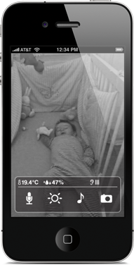 video monitor for baby that works with iPhone/iPad. Made by Wiithings people. I want this !!