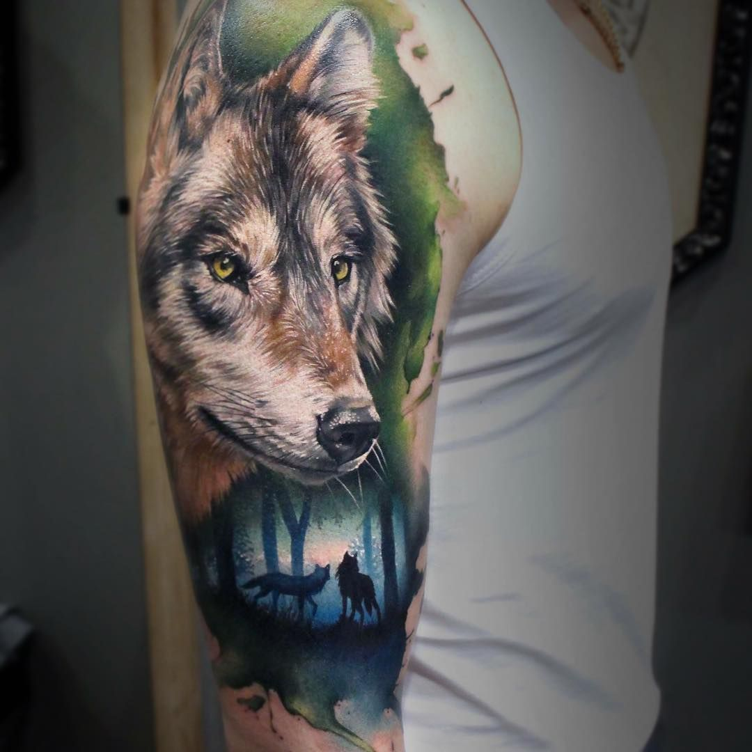 How To Get Rid Of A Bad Tattoo Wolf Sleeve Wolf Tattoo Design Full Sleeve Tattoos