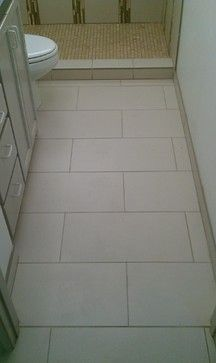 Floor 12 X 24 Porcelain Tile On Offset Pattern Flooring Tile Layout Patterned Bathroom Tiles
