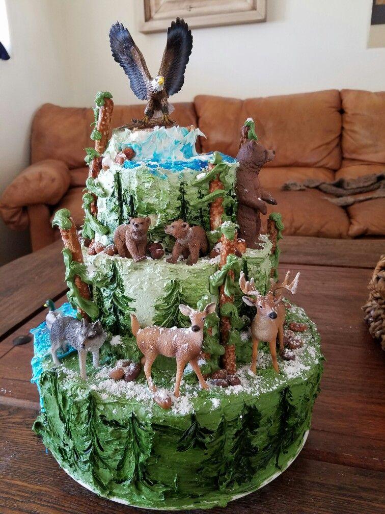 Stupendous Bass Pro Shop Birthday Cake Snow Hunting Camping Fishing Elk Funny Birthday Cards Online Benoljebrpdamsfinfo