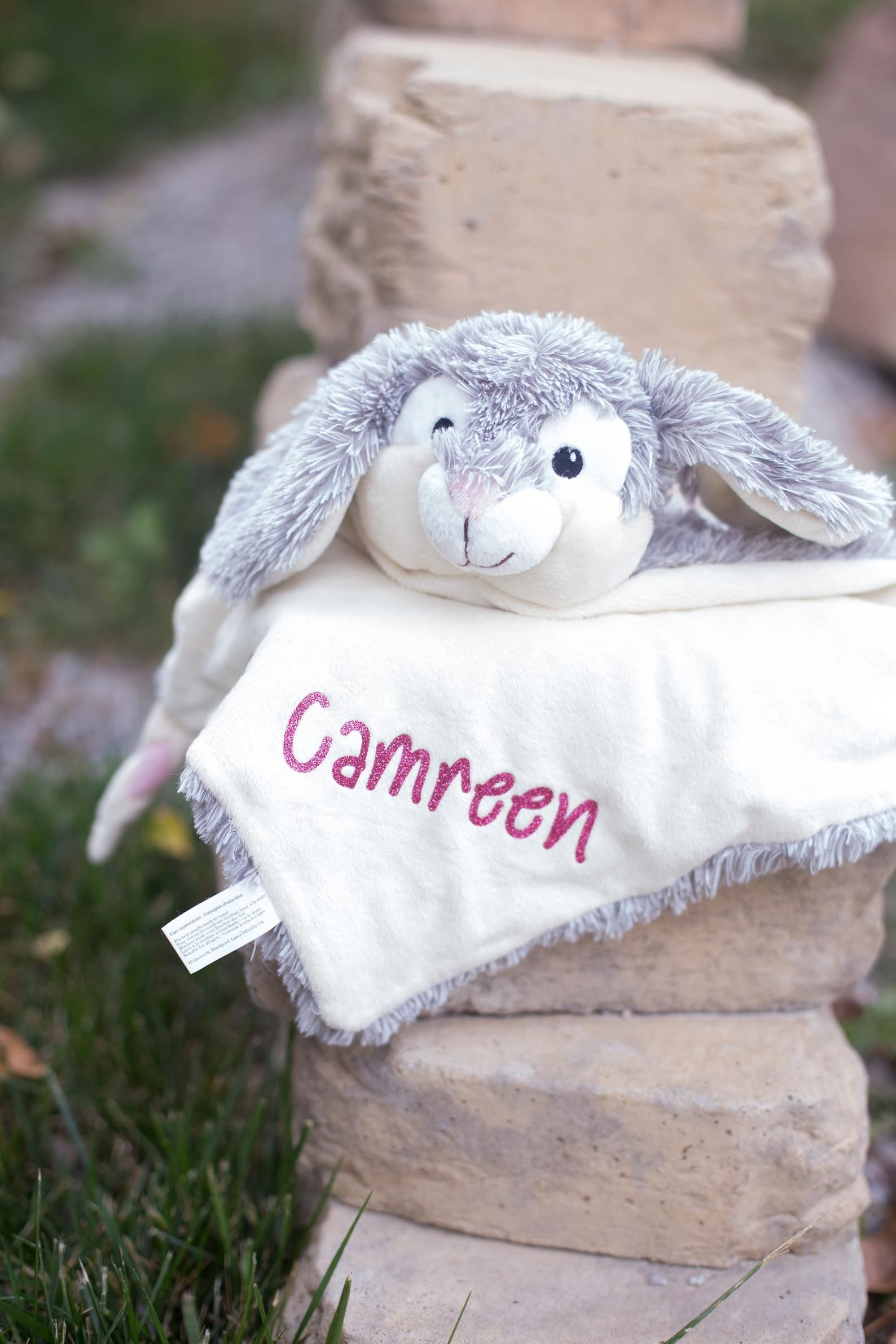 Personalized Bunny Baby Security Blanket #securityblankets Personalized Bunny Baby Security Blanket | Etsy #securityblankets