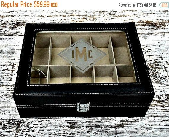 ON SALE Engraved Luxury Watch Box Custom by TheBlastedBoutique