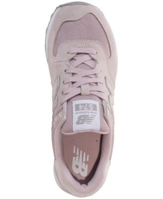 newest collection 97943 31ca9 New Balance Women s 574 Shattered Pearl Casual Sneakers from Finish Line -  Pink 6.5