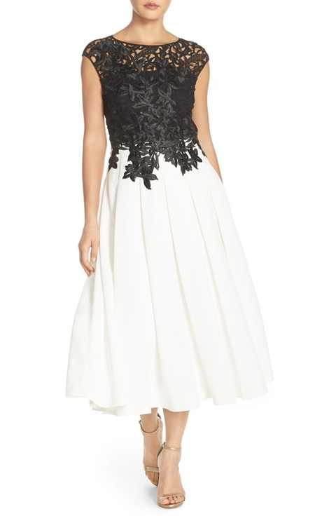 4bdc7e4d4ea Ted Baker London Lace Bodice Fit   Flare Dress