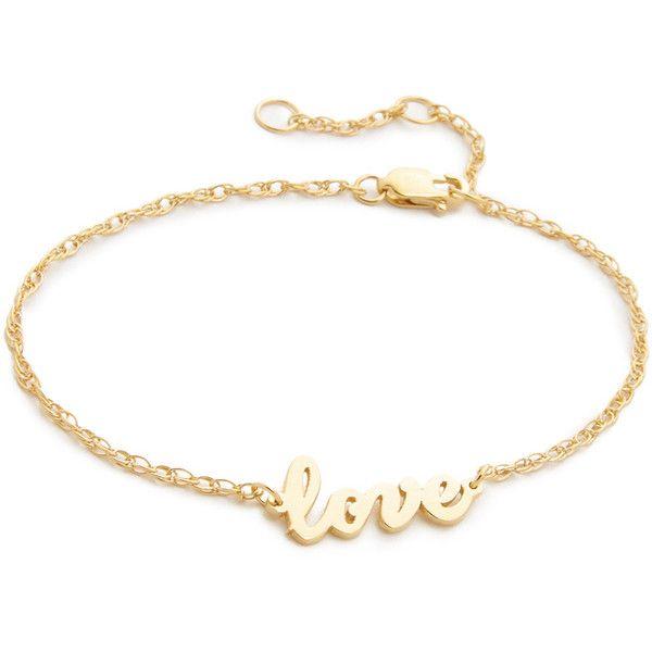 Jennifer Zeuner Cursive LOVE Bracelet CjqRCOnb