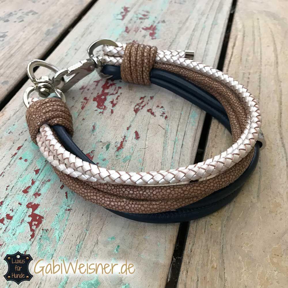Hundehalsband 6 Reihen Ledermix | Tau | Pinterest | Hunde, Halsband ...