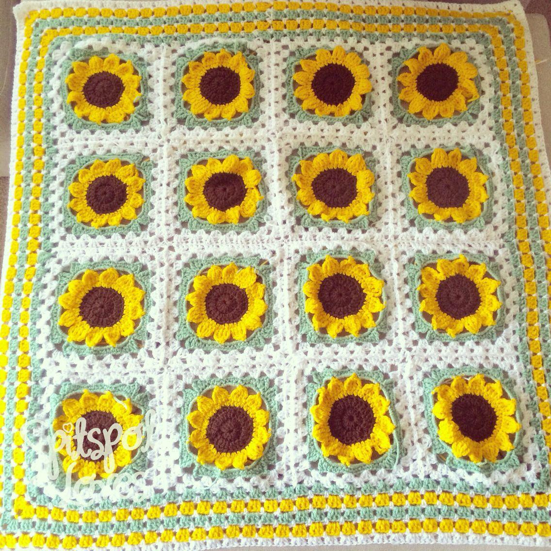 Sunflower crochet pattern | crochet bébé! | Pinterest | Sunflowers ...