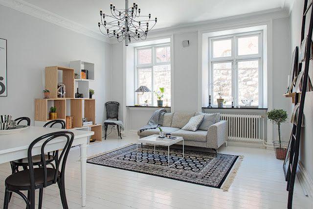 Ideas Low-cost para decorar una vivienda con estilo nórdico Living