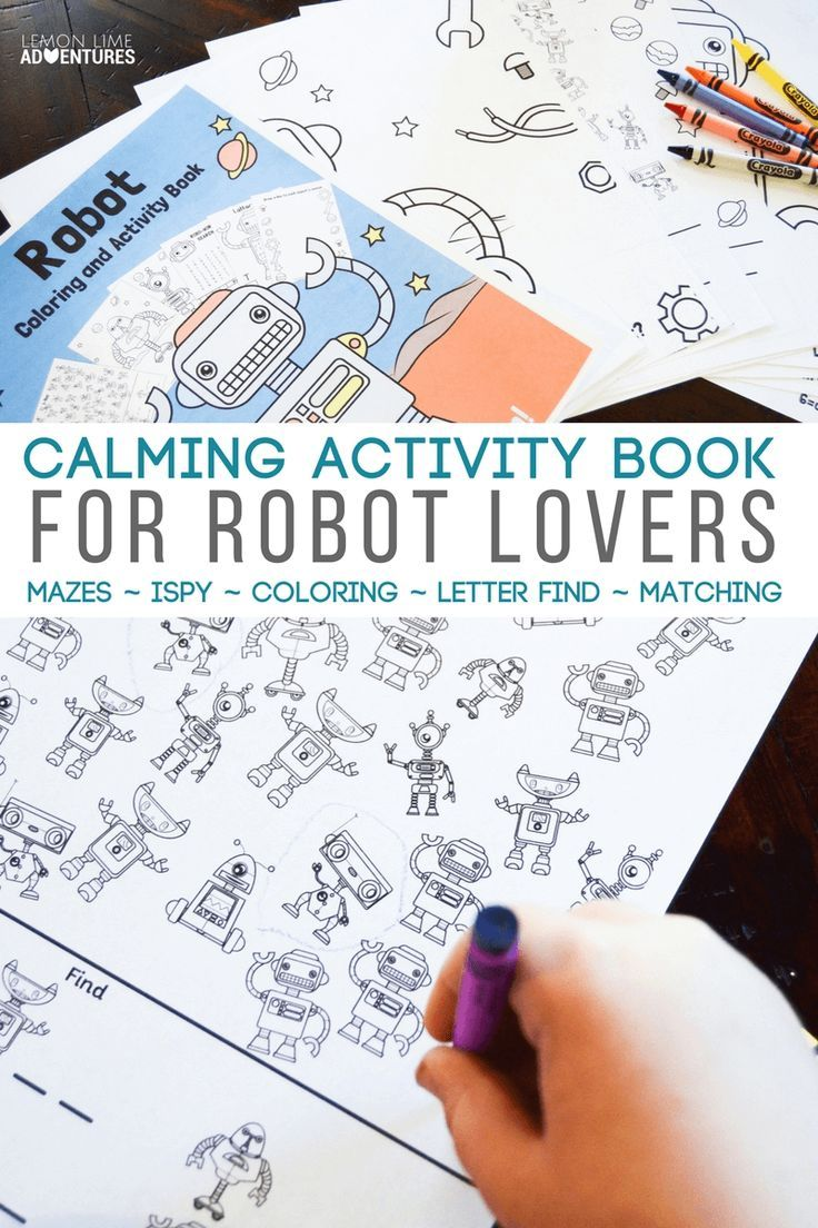 Super Awesome Calming Robot Activity Kit for Busy Kids That