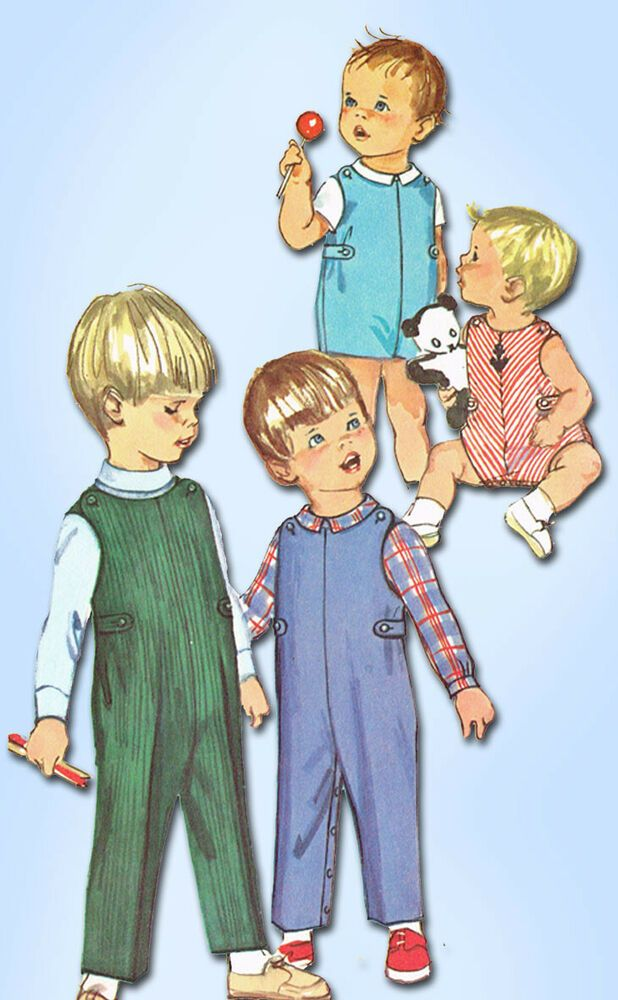 1960s Vintage Simplicity Sewing Pattern 6157 Baby Boy Or