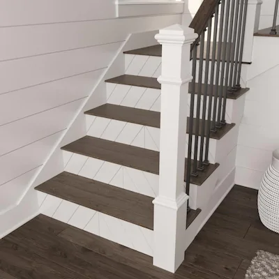 L J Smith Stair Systems 11 5 In X 48 In Classic Gray Prefinished   White Oak Stair Treads Lowes   Stairtek Retrotread   Red Oak   Unfinished   Staircase Remodel   Wood