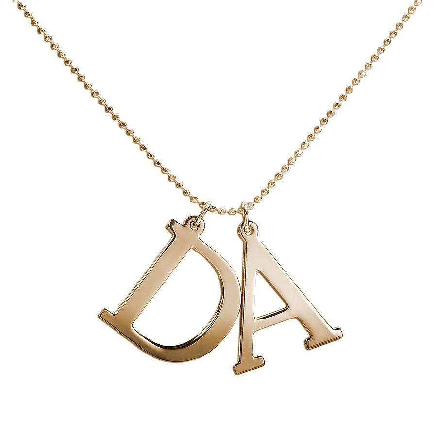 Capital letter necklace letter necklace