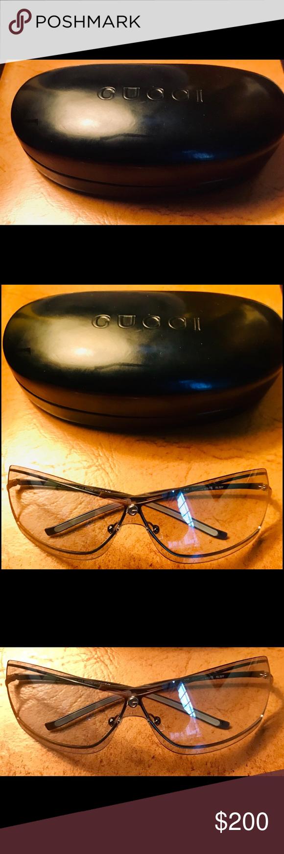 e34d44d1ba Gucci Clear Smoke Wire Frame Glasses Authentic Gucci sunglasses in perfect  condition! Gucci clear smoke lens frame ( 115 GG 2683 S 010) Rectangular  shape ...