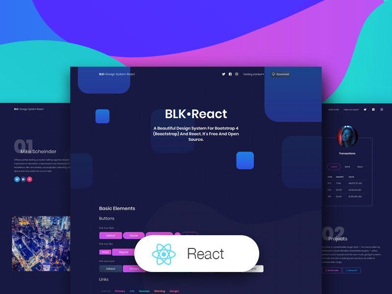 Blk Design System React Design System React App Design